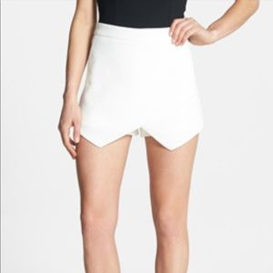 Anthropologie Sophie Rue White Wrap Skort